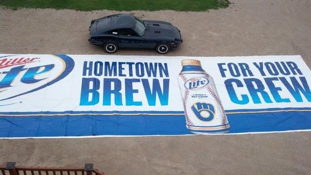 Miller Lite Brewers 14X48